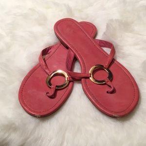 Pink Ring Flip Flops